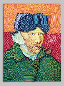 G.Znamierowski.''Pasaulio meno sedevrai. VanGogas'' 1987 m. 60x80 cm (rasalas, flomasteriai, akrilas-popierius)