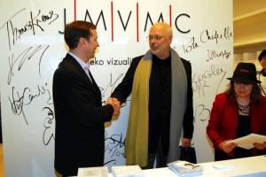 Guggenheimo muziejaus direktorius T. Krensas ir A. Zuokas